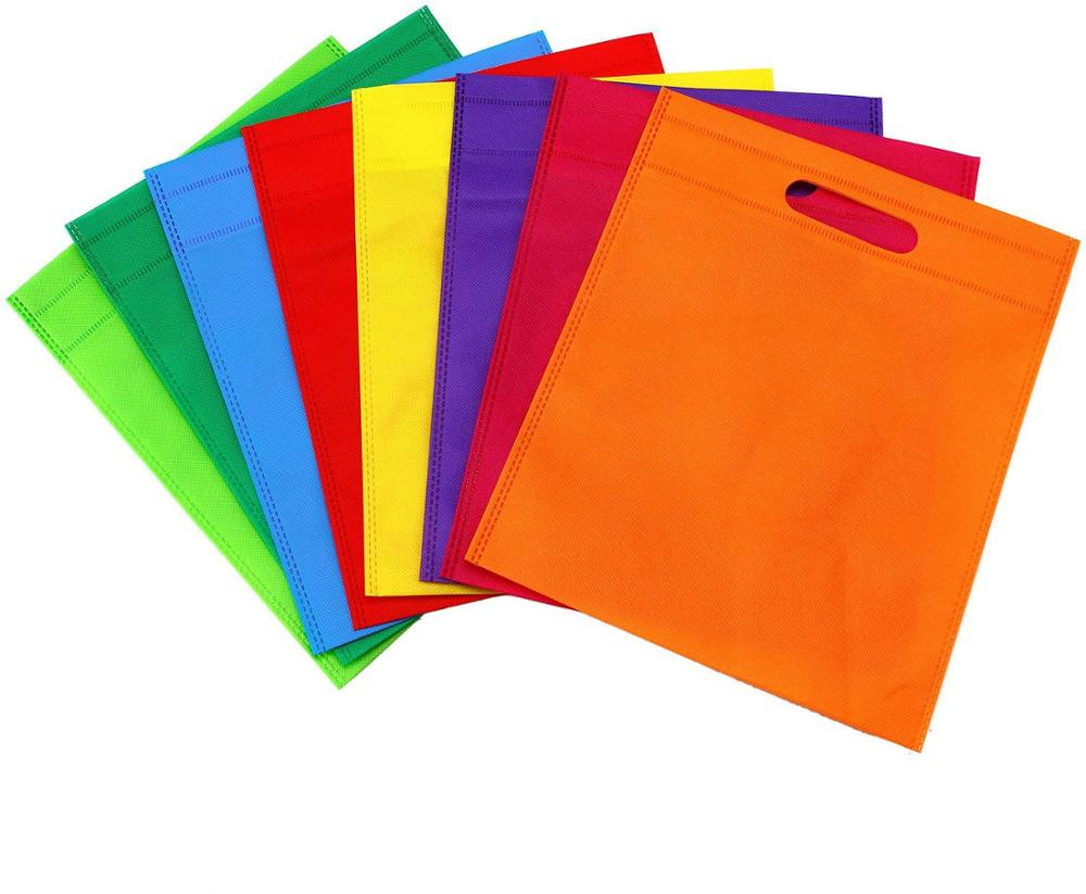 stock non woven bag with die cut handle for party