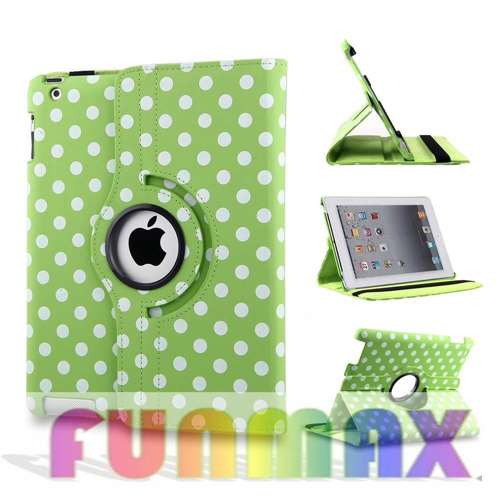 Apple iPad Mini 360 Degree Rotation Smart Cover PU Leather Protective Case -Green