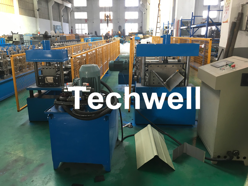 Color Steel Plate, Galvanized Steel Roof Ridge Valley Roll Forming Machine For Making Ridge Cap, Rid
