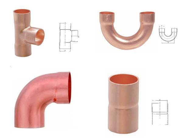 Red copper fittings