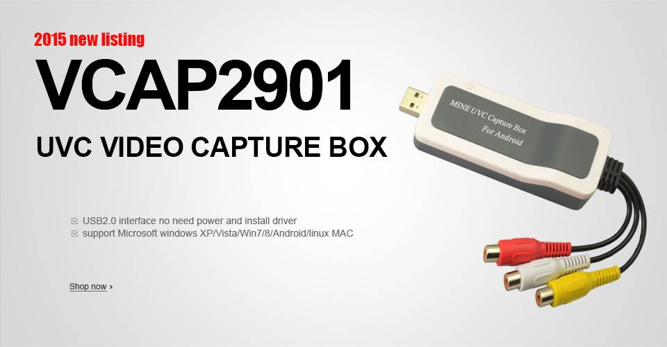 2015 New UVC ezcap usb video grabber MAC Linux Windows no need driver usb2.0 video capture card adap