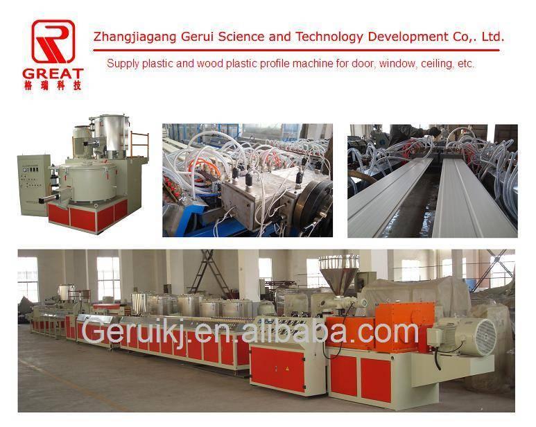 Wood and plastic producing machine
