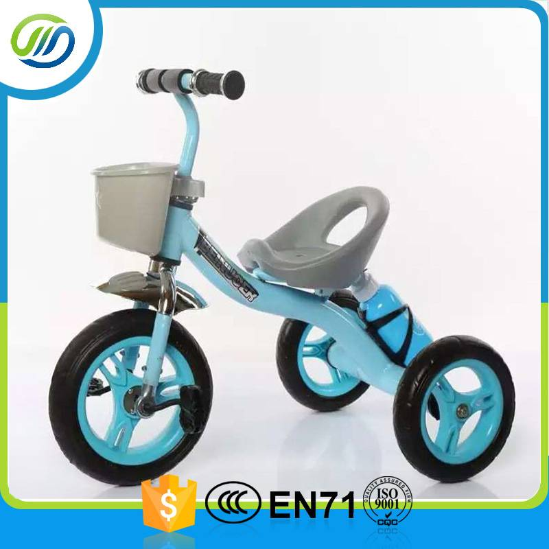 New metal baby tricycle with basket