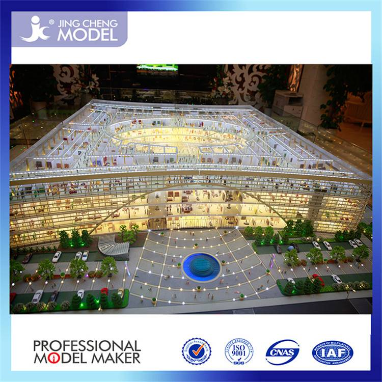 Miniature architectural model making for shopping mall