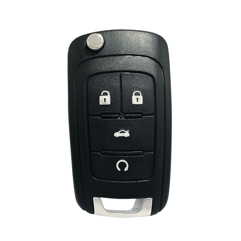 KeylessOption Keyless Entry Remote Control Uncut Car Key Fob Replacement