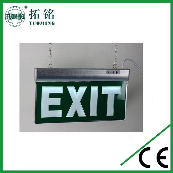 double sides emergency stairs sign and exit sign