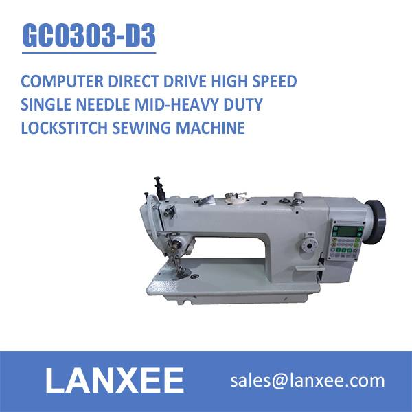 Lanxee GC0303-D3 Industrial Direct Drive Computer Sewing Machine