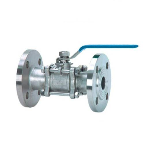 3 pcs flange ball valve