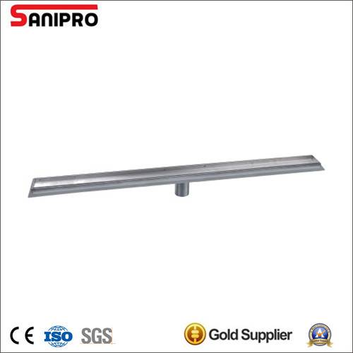 Tile insert linear drain stainless steel floor drain