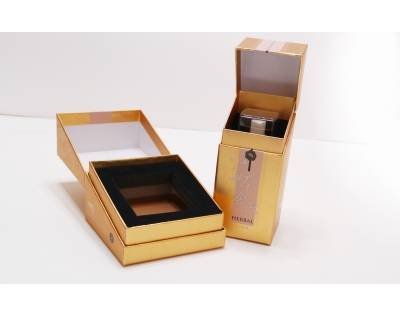 Cosmetic Gold Foil Paper Box