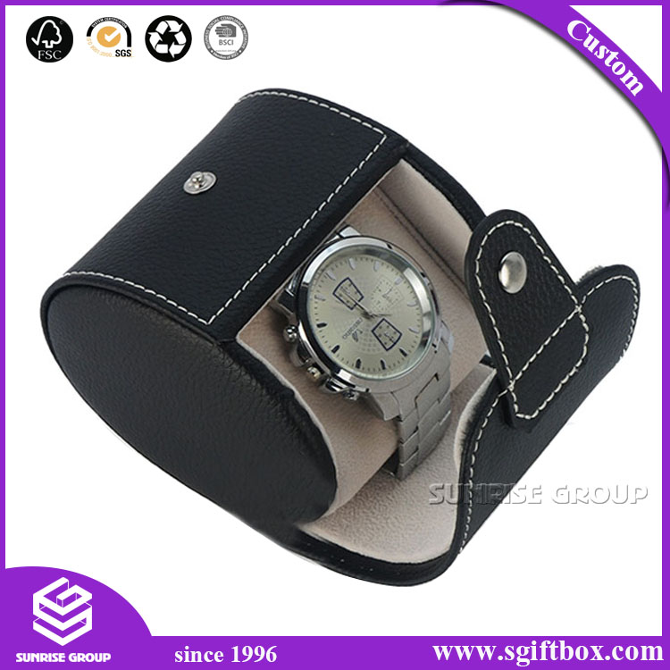 Fashion Unique Quality PU Leather Gift Packaging MDF Watch Box
