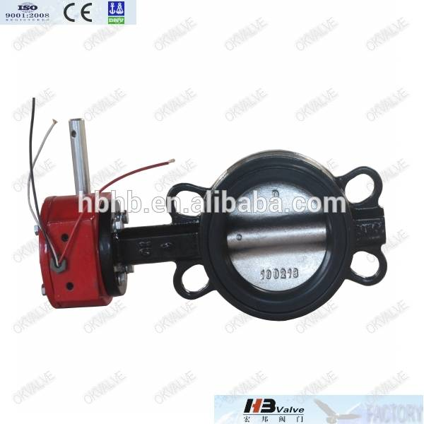 Sanitary Cast Iron Wafer Butterfly Valve API 609 / ISO 5752 / BS 5155, OEM offer