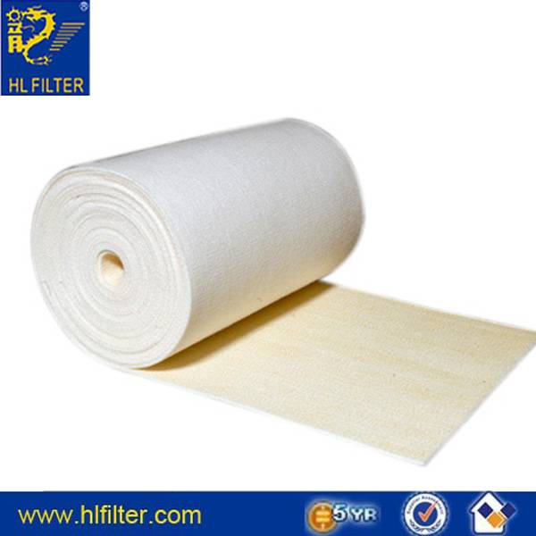 Non-woven felting needles compacting PP micron filter + rolls