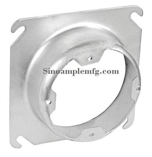 "4-11/16"" Square to Round, 1-1/4"" Raised Device Ring (SCV-20655)"