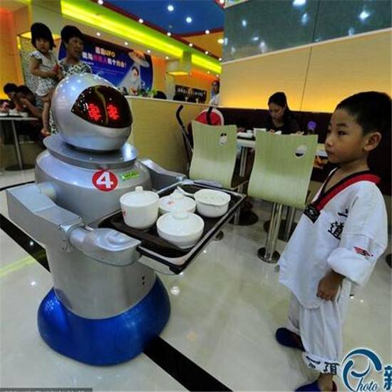 Pangolin 3rd generation dishes delivery robot