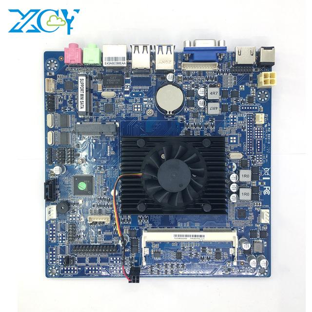 XCY 17x17cm ITX motherboard Onboard CPU Intel Celeron N2810 2.00GHz DDR3L Mini PCI-E mSATA VGA