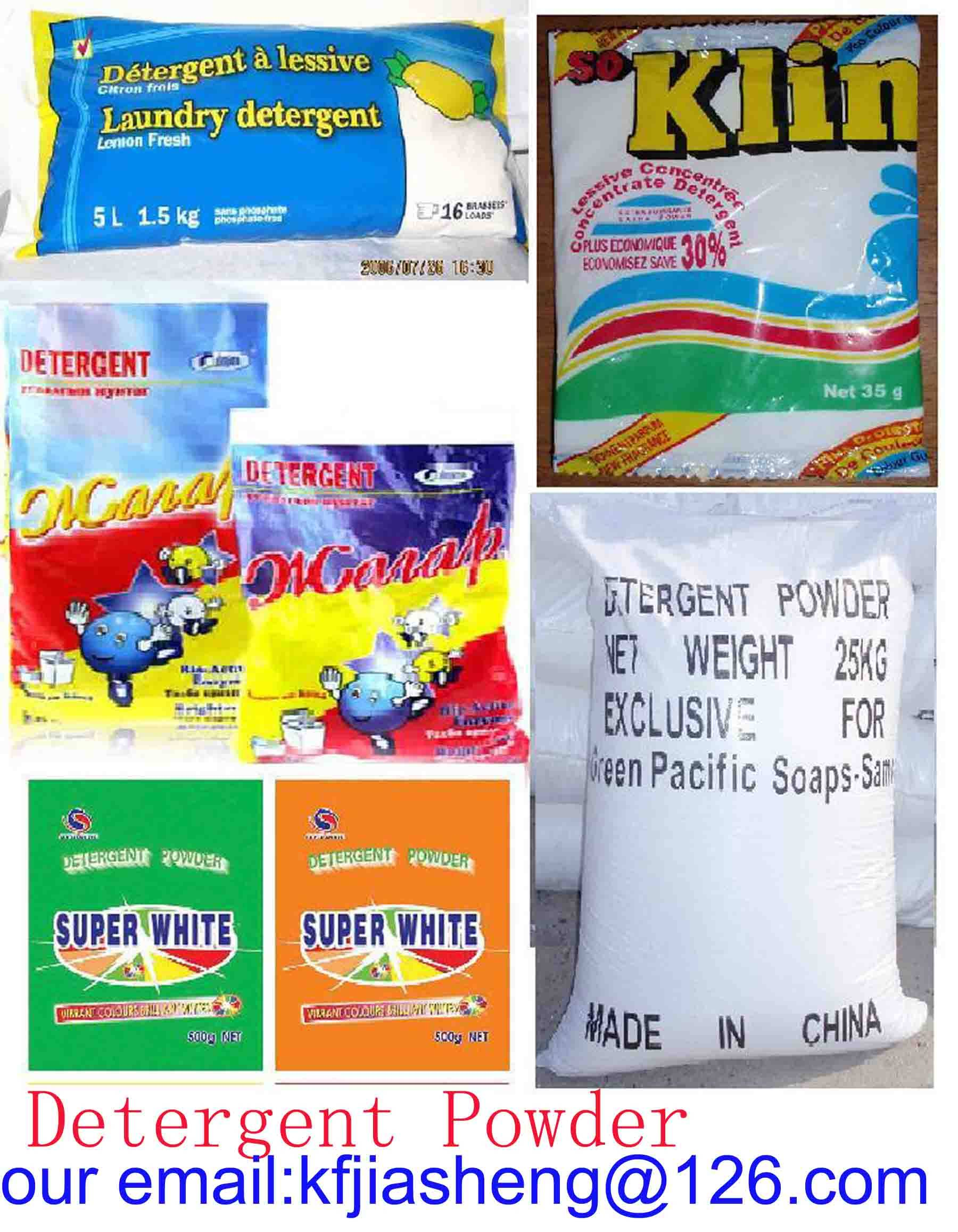 Detergent Powder / Washing Powder / Laundry Powder(our email:kfjiasheng(at)126.com)