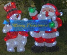 EVA&LED Christmas decorative lights,Santa and Snowman with Letter,xmas lights