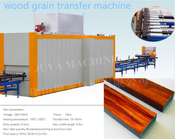 wood grain transfer machine
