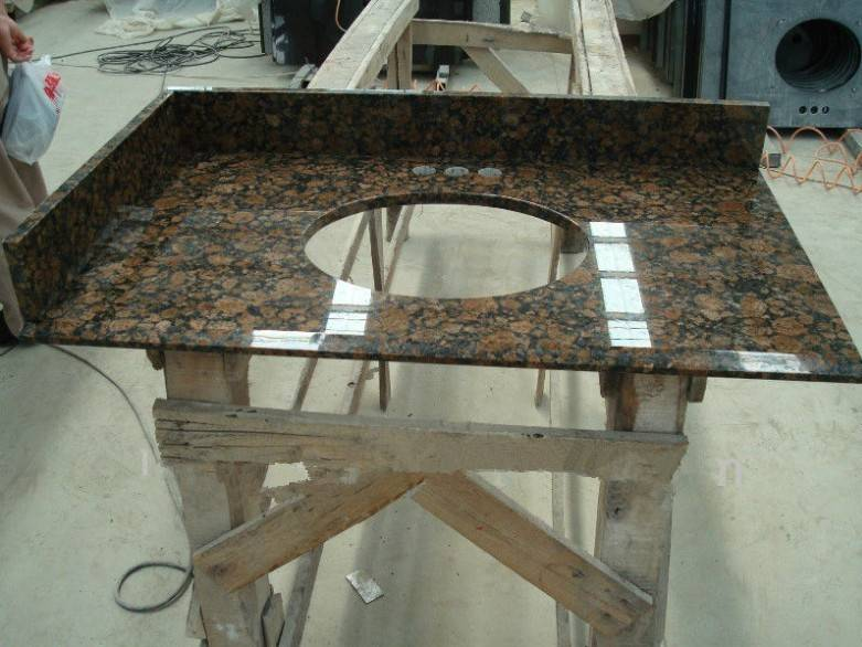 balbic brown granite countertop with sink on sale