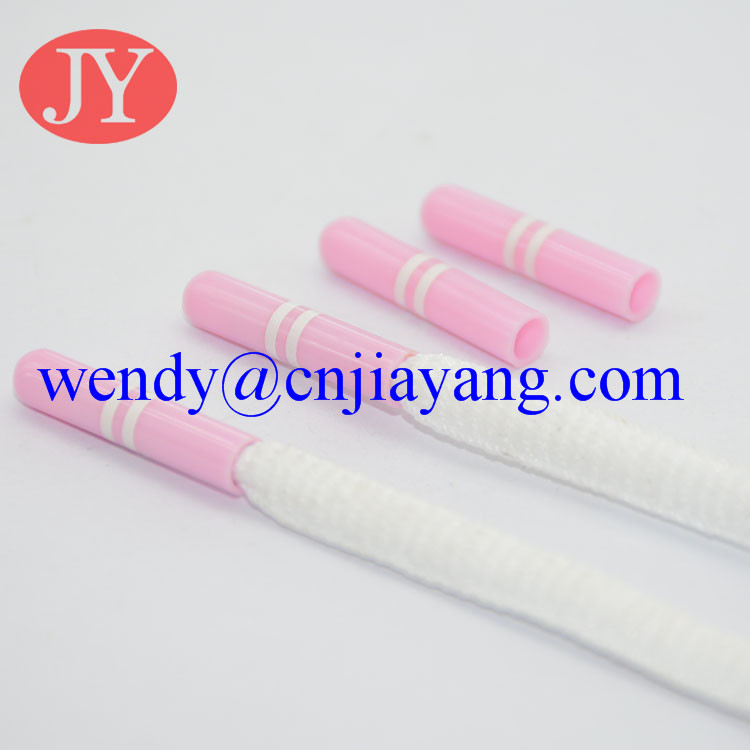 pink color plastic aglet shoelace string cord end tip