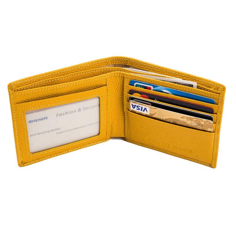 Compact Slim RFID Blocking Purse Clutch Rfid Leather Women Wallet