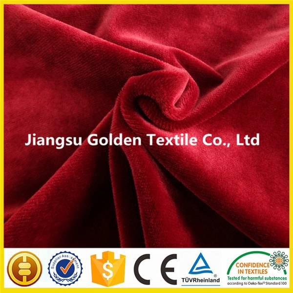 bonded 100 polyester plush and polar fleece fabric for winter jacket