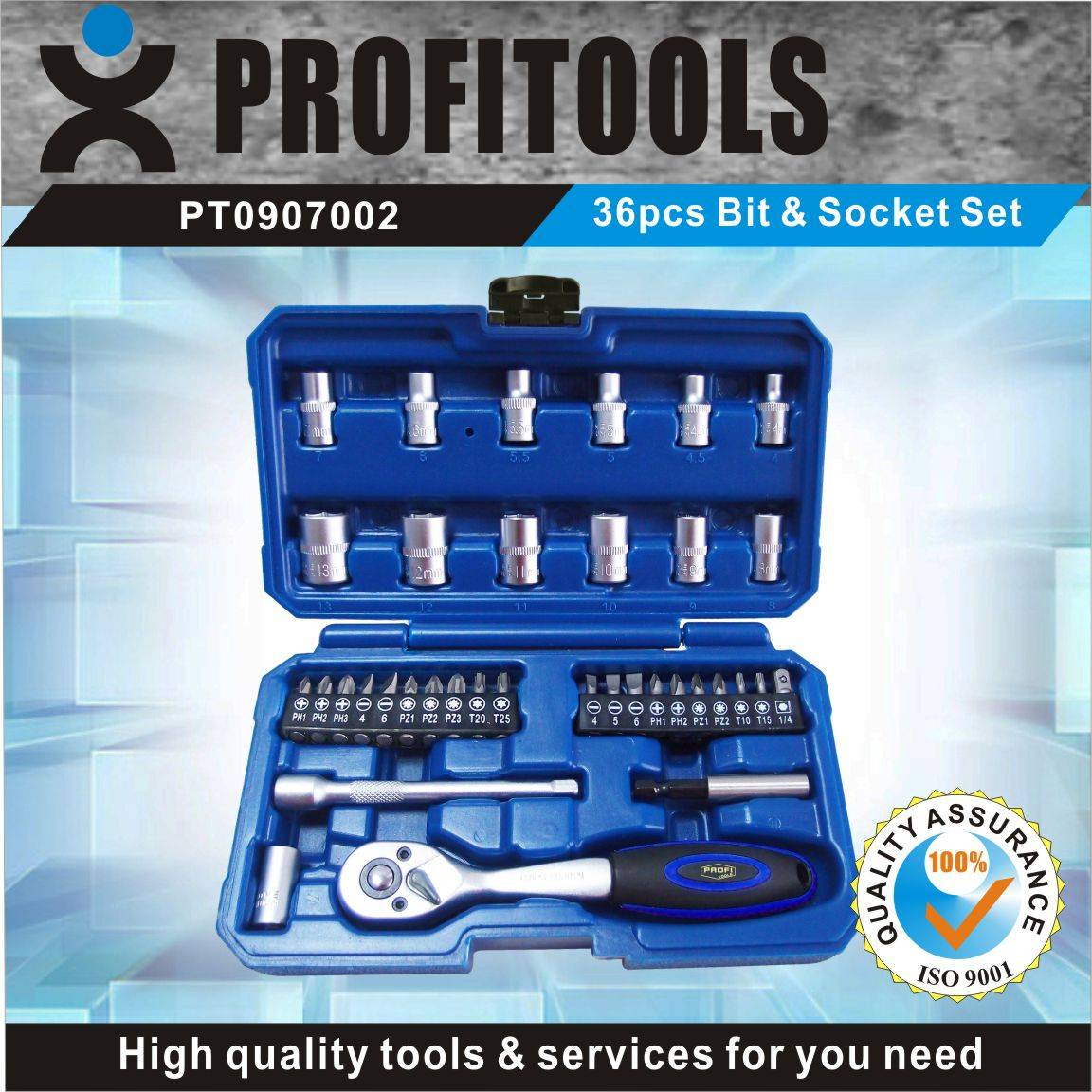 36pcs Hot Selling Bit and Socket set for Household