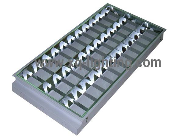 T8 3x36w grille light recessed type