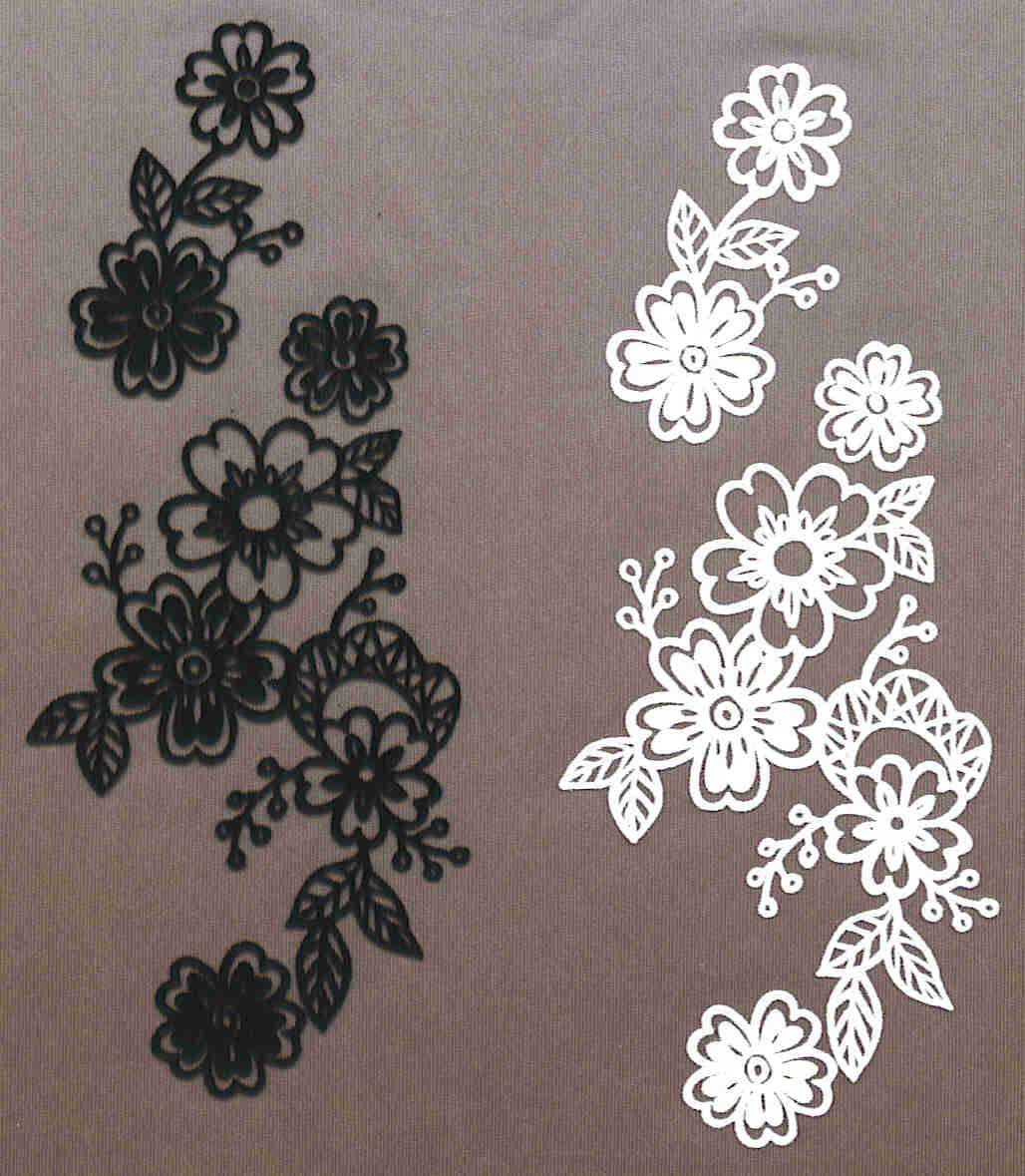 Flock Heat Transfers/Iron-on Motif,Embroidery Lace,Applique,Patch