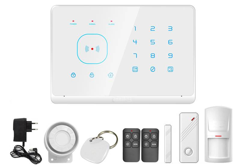 GSM home alarm systsem with RFID tag reader
