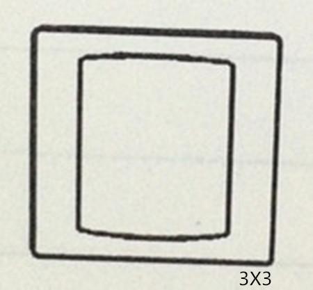 3X3 BLANK PLATE