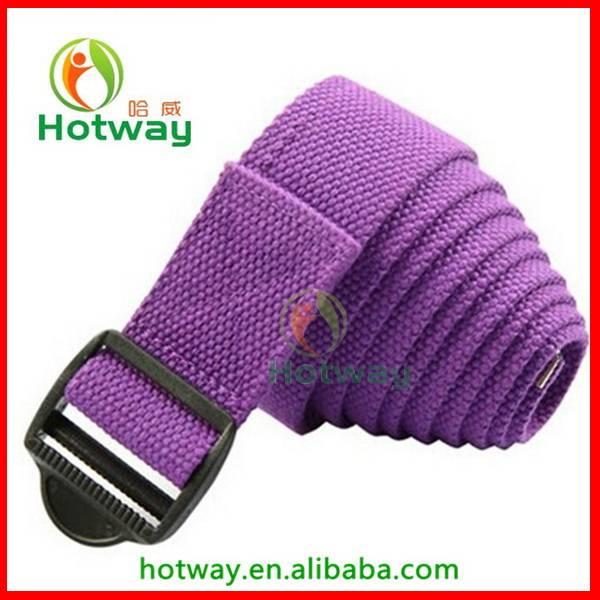 Yoga Belt with Cinch Buckle Yoga Stretch Belt Yoga Strap 183cm with Plastic Buckle
