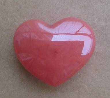 polished gemstone heart shape decorations