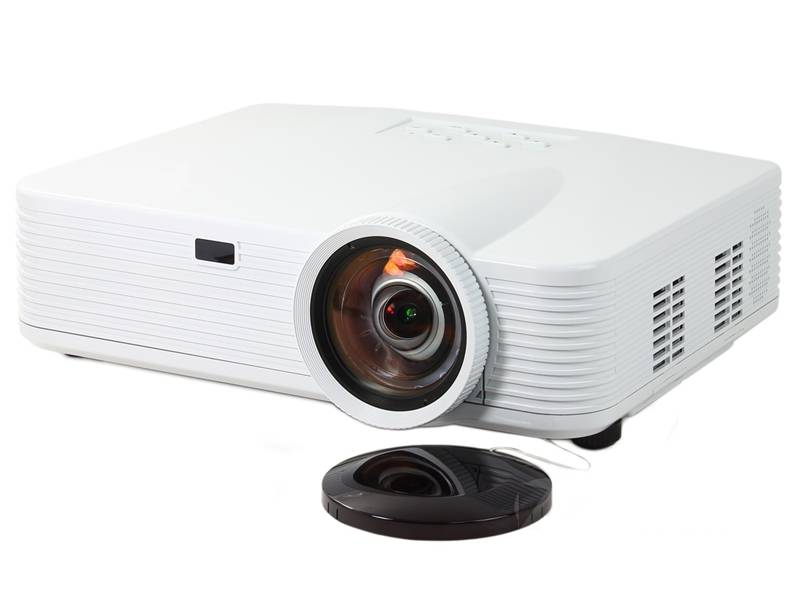 High Quality Real 1080p 2800 ansi lumens short throw projector support 3d analog TV For High-end Hom