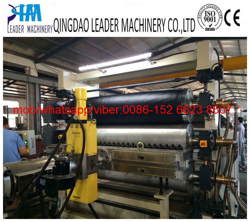 HDPE geomembrane/geogrid sheet extrusion line