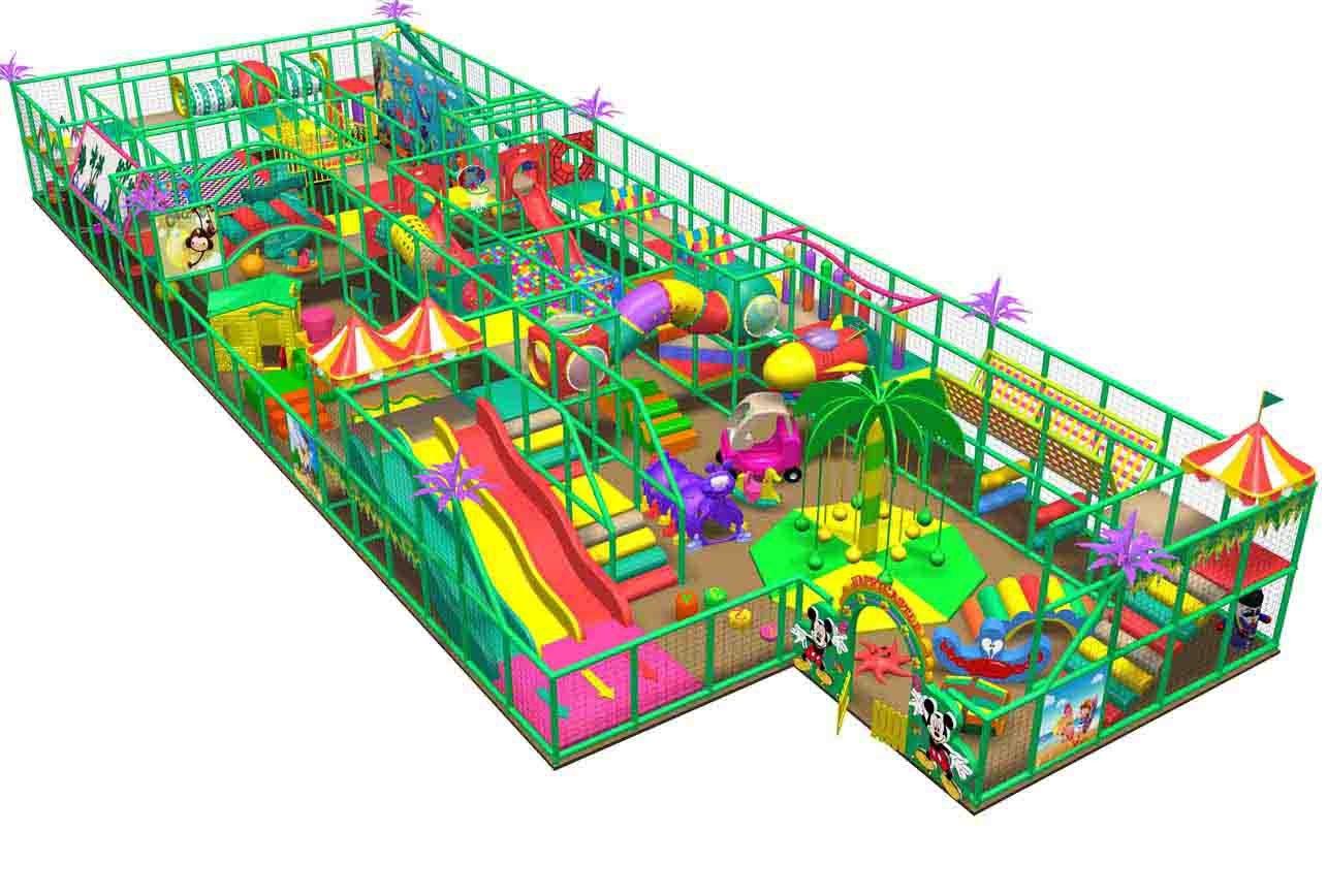 HLB-I17072 Kids Indoor Play City Children Amusement Park Supplies