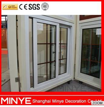 White Color Aluminum Sliding Window Grill Design China MINYE for Sale