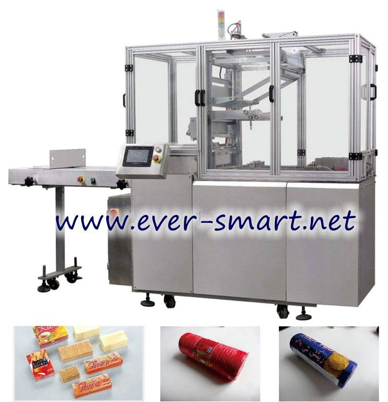 Automatic X-fold On-edge Biscuit wrapping Machine