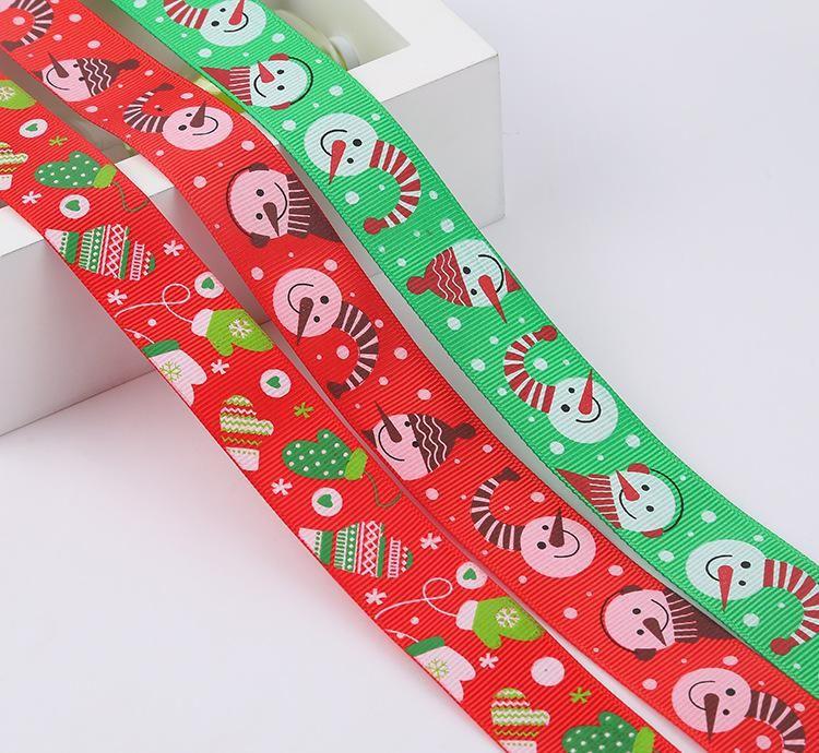 new design Christmas 100% polyester grosgrain ribbon