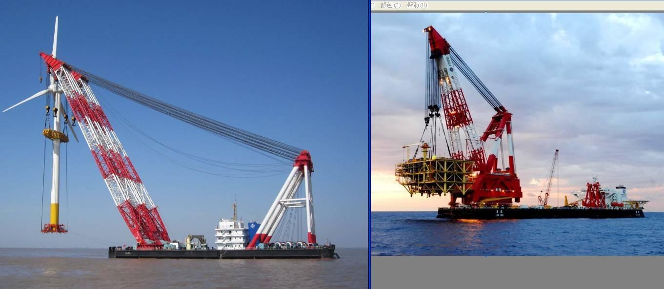 floating crane 100t to 5000t crane barge cheap crane vessel