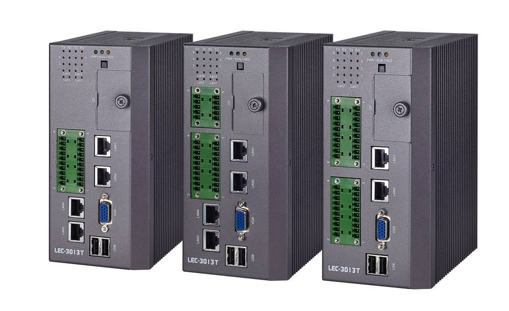 DIN Rail Industrial Communications Computer with Wide Temperature Support