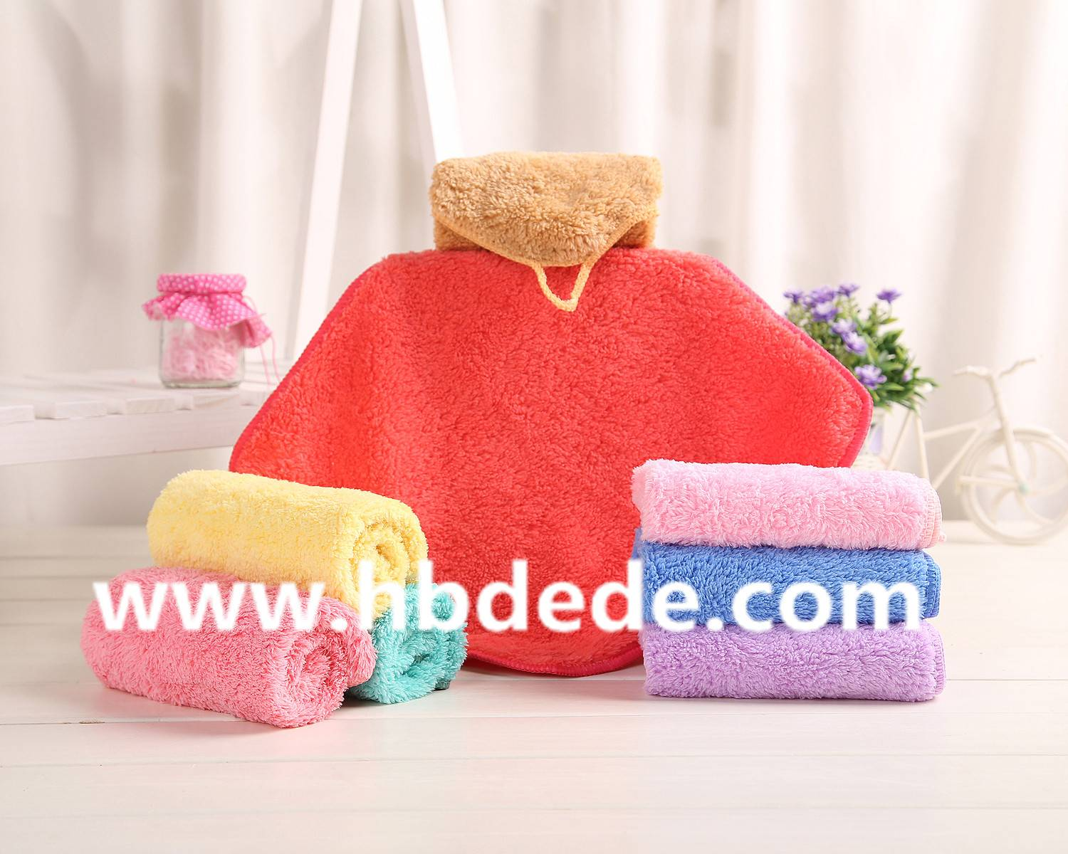 colorful home towel 100% cotton
