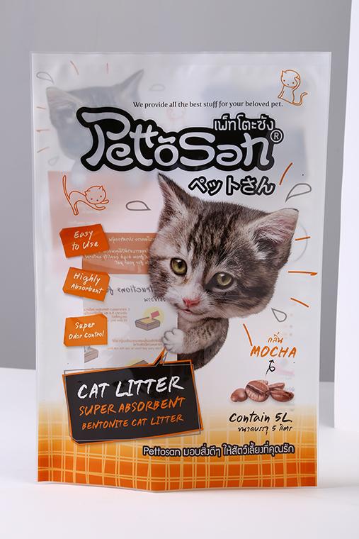 Quad Seal Custom printed non-toxic pet dog cat supplies bags