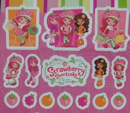 Strawberry Scented Sticker