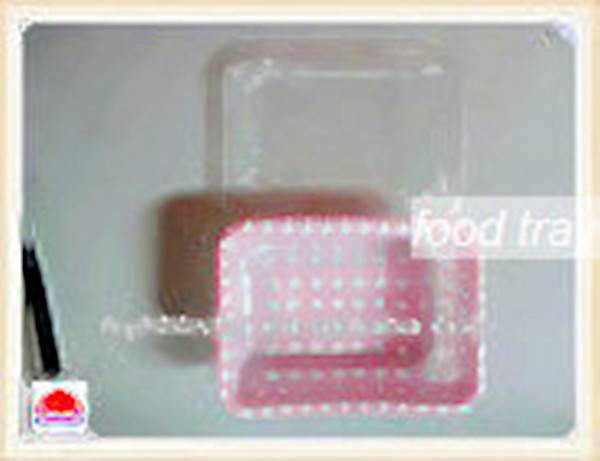 Plastic food tray with lid