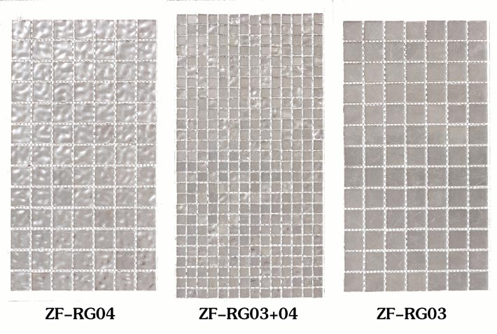 ZF-RG 24k white gold silver glass mosaic tiles wall or pool decoraiton