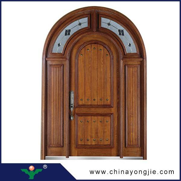 2015 new products zhejiang solid wooden gate door price Quality Assured