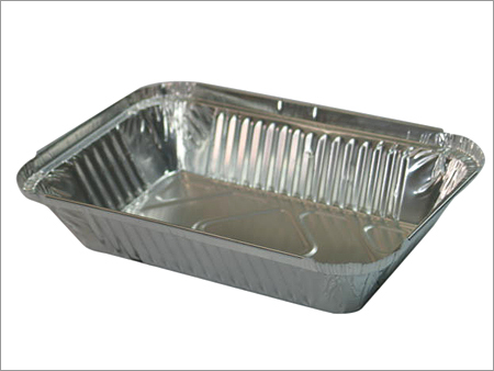 disposable aluminium foil container for food use