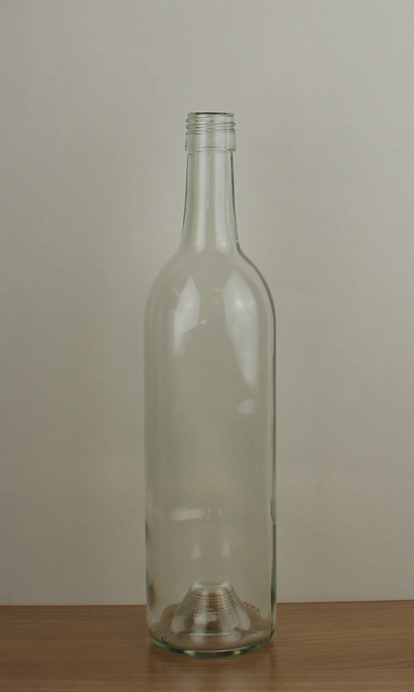 Flint Antique Green Bordeaux Wine Bottle 1114